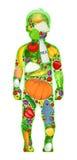 Homem saudável, alimento, vetor Fotos de Stock