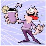 Homem sedento ilustração stock