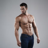 Homem 'sexy' no estúdio foto de stock royalty free