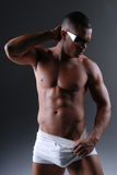 Homem 'sexy' no roupa interior. Imagens de Stock Royalty Free