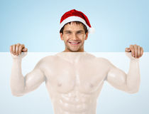 Homem 'sexy' Papai Noel Fotografia de Stock Royalty Free