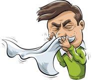 Homem Sneezing Fotos de Stock Royalty Free