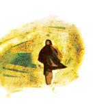 Homem solitário Imagens de Stock