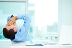 Homem sonolento foto de stock royalty free