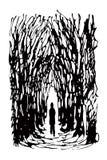 Homem sozinho (vetor) Imagens de Stock