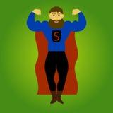 Homem super da barba ilustração do vetor