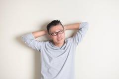 Homem superior asiático Imagens de Stock Royalty Free