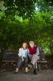 Homem superior e mulher superior que fazem um autorretrato imagens de stock royalty free