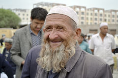 Homem superior em Kashgar Foto de Stock Royalty Free