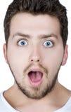 Homem surpreendido Fotos de Stock Royalty Free