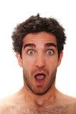 Homem surpreendido Fotos de Stock
