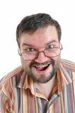 Homem surpreendido feliz Imagens de Stock