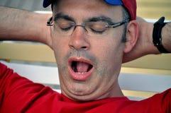 Homem Tired fotografia de stock royalty free