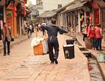 Homem trabalhador em Luodai China Fotografia de Stock Royalty Free