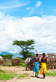 Homem tribal africano fotos de stock