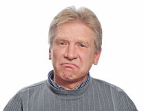 Homem triste Fotos de Stock