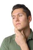 Homem triste de pensamento Fotografia de Stock