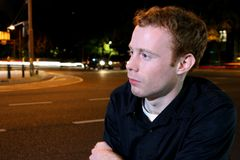 Homem urbano calmo Imagens de Stock