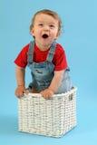 Homem velho do bebê de nove meses Fotografia de Stock Royalty Free