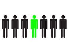 Homem verde Fotografia de Stock