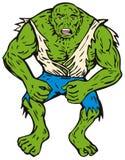 Homem verde com músculos Fotos de Stock