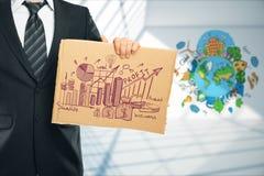 Homem verde do negócio concept Imagem de Stock