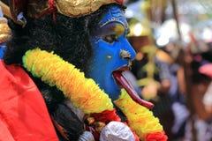 Homem vestido acima como da deusa hindu imagens de stock