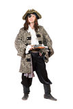 Homem vestido como o pirata fotografia de stock
