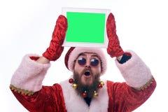 Homem vestido como Santa Claus imagem de stock royalty free