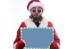 Homem vestido como Santa Claus fotografia de stock royalty free