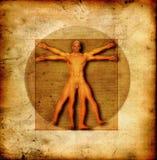 Homem vitruvian de Da Vinci ilustração stock