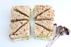 Homemade. A beef sandwich cut to represent the United Kingdom's flag, the Union Jack Stock Images
