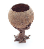 Homemade. Handmade ashtray of making clay and coconut royalty free stock photography