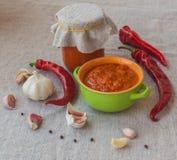 Homemade adjika Stock Image