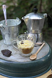 Homemade Affogato with Ice Cream Stock Images