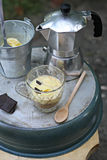 Homemade Affogato with Ice Cream Royalty Free Stock Photography