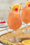 Homemade Alcoholic Hurricane Cocktail Drink Royalty Free Stock Images
