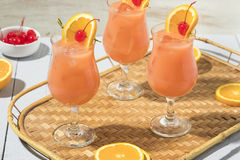 Homemade Alcoholic Hurricane Cocktail Drink Royalty Free Stock Photography