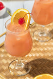 Homemade Alcoholic Hurricane Cocktail Drink Stock Images
