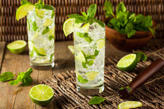 Homemade Alcoholic Mojito with LIme Royalty Free Stock Photography