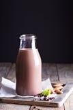 Homemade almond chocolate milk Royalty Free Stock Photo