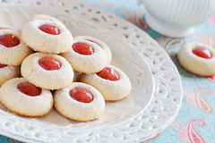 Homemade almond cookies Stock Photos