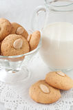 Homemade almond cookies Stock Images