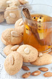 Homemade almond cookies Stock Image