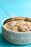 Homemade almond cookies wih walnuts Royalty Free Stock Photo