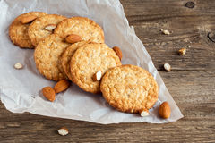 Homemade almond cookies Royalty Free Stock Images