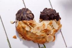Homemade almond horn Stock Images