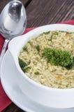 Homemade Alphabet Soup Stock Image