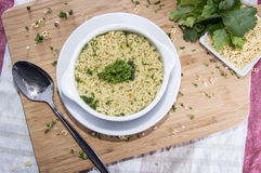 Homemade Alphabet Soup Royalty Free Stock Image