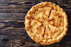 Homemade American apple pie, top view stock images